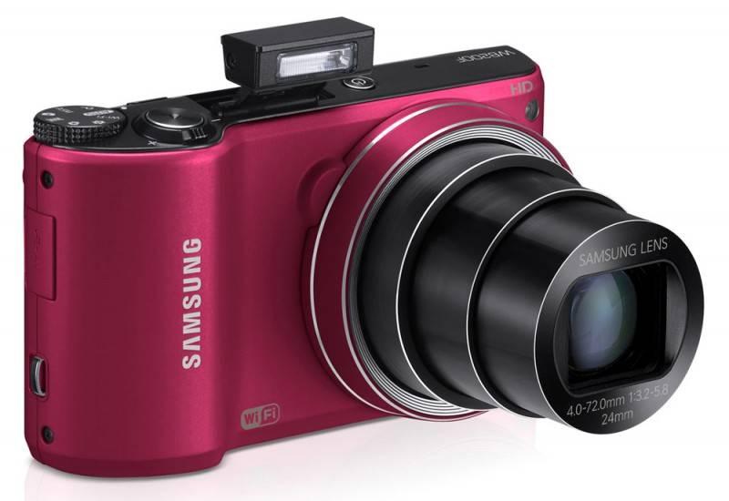 Фотоаппарат Samsung WB200F красный - фото 4