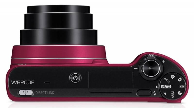 Фотоаппарат Samsung WB200F красный - фото 7