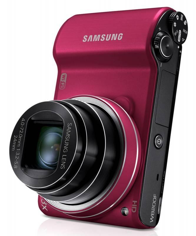 Фотоаппарат Samsung WB200F красный - фото 8