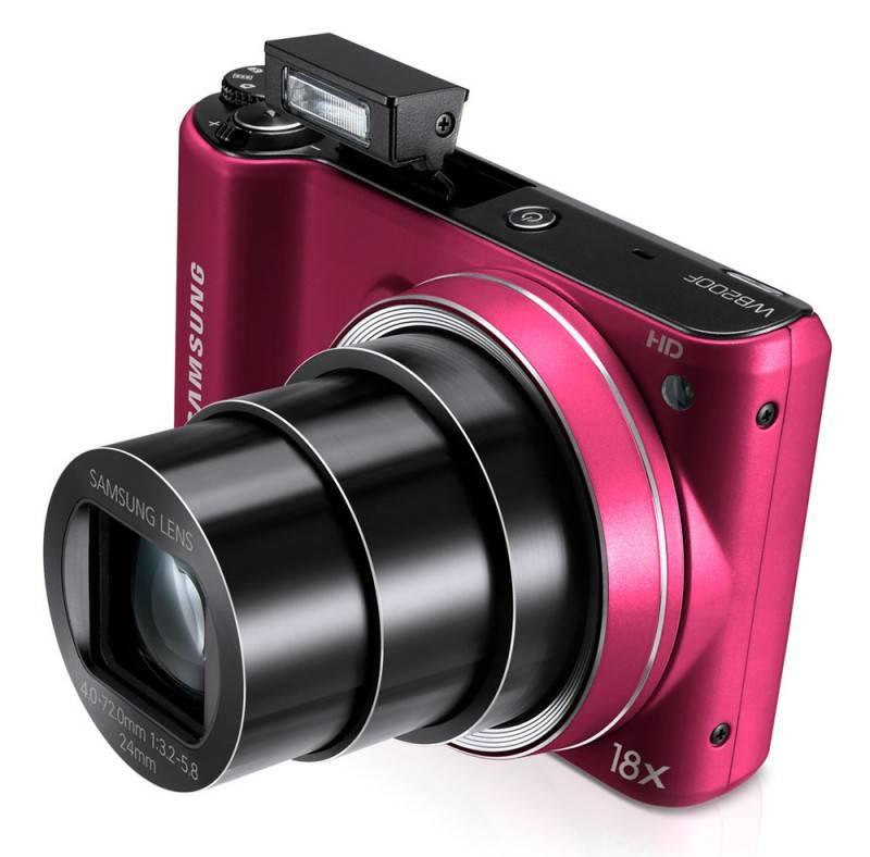 Фотоаппарат Samsung WB200F красный - фото 9