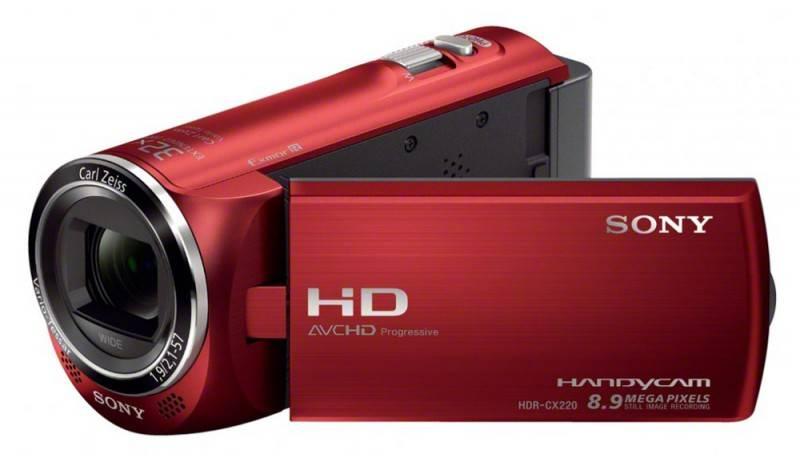 Видеокамера Sony HDR-CX220E красный - фото 1