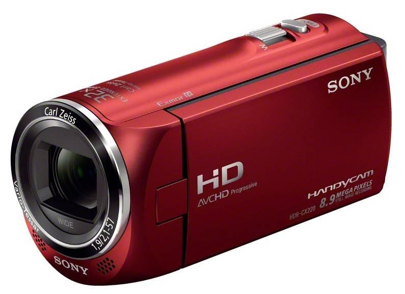 Видеокамера Sony HDR-CX220E красный - фото 2