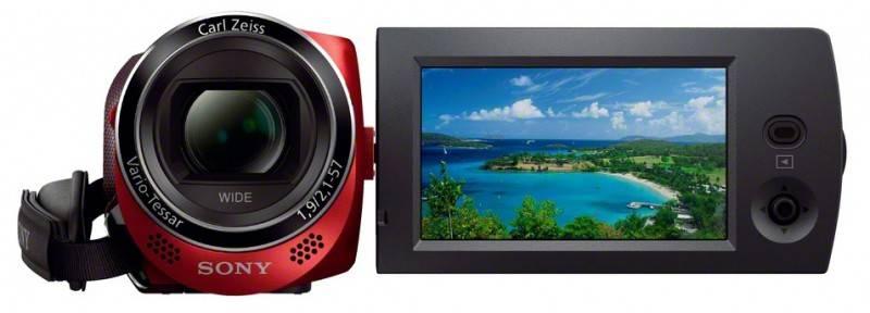 Видеокамера Sony HDR-CX220E красный - фото 4