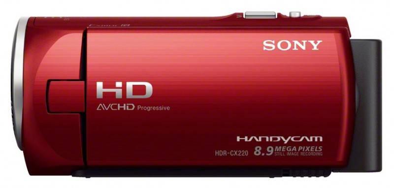 Видеокамера Sony HDR-CX220E красный - фото 5