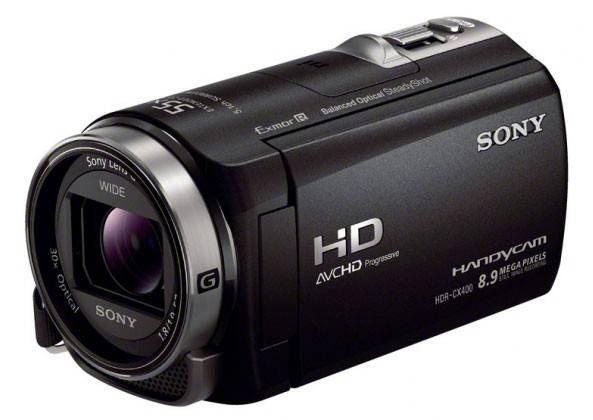 Видеокамера Sony HDR-CX400E черный - фото 2