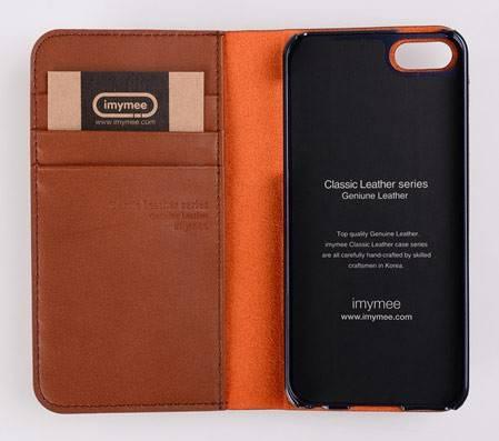 Чехол (флип-кейс) Imymee Classic Leather (I5C53141-BR) коричневый - фото 3