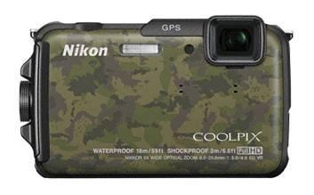 Фотоаппарат Nikon CoolPix AW110 темно-зеленый/коричневый - фото 1