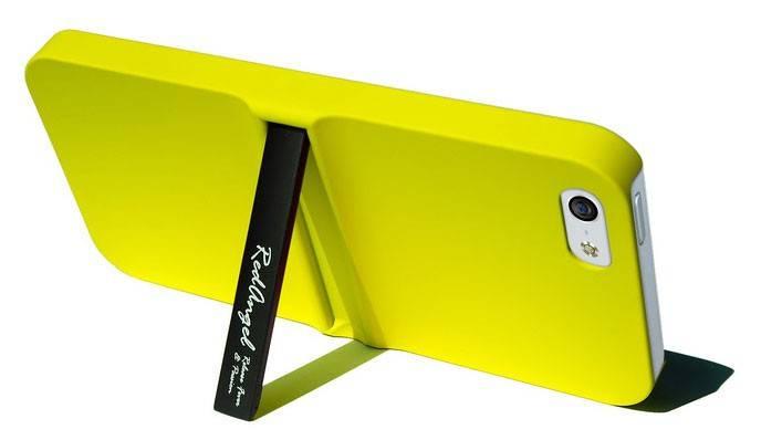 Чехол (клип-кейс) alloy stand желтый - фото 1