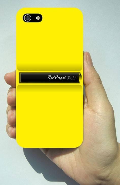 Чехол (клип-кейс) alloy stand желтый - фото 3