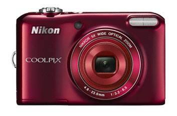 Фотоаппарат Nikon CoolPix L28 красный - фото 1