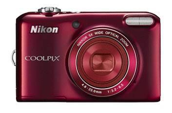 Фотоаппарат Nikon CoolPix L28 красный - фото 2