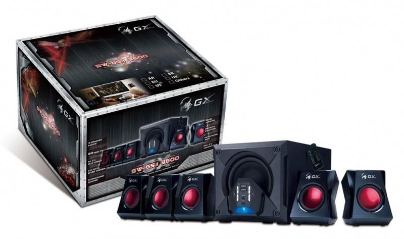 Колонки Genius GX SW-G5.1 3500 черный 5.1 - фото 7