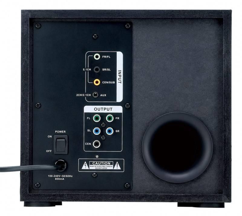 Колонки Genius GX SW-G5.1 3500 черный 5.1 - фото 2