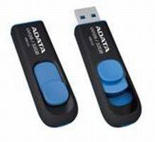 Флеш диск A-Data DashDrive UV128 16ГБ USB3.0 черный / желтый
