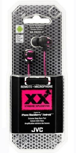 Наушники с микрофоном JVC JVC HA-FR201-P розовый - фото 2