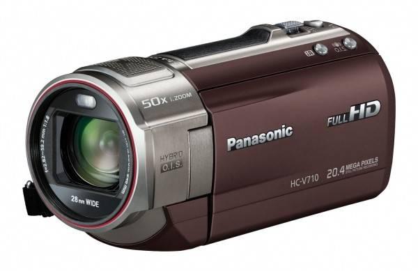 Видеокамера Panasonic HC-V710 коричневый - фото 1