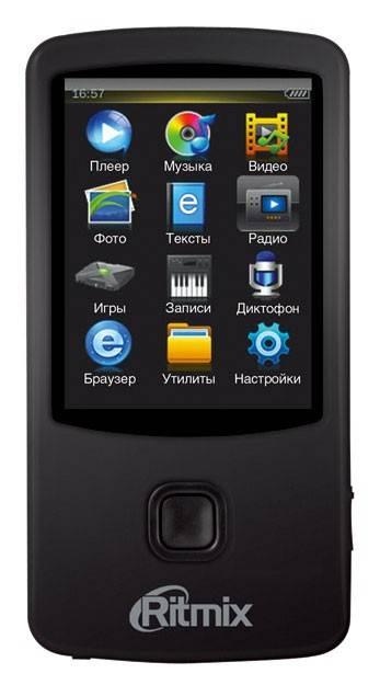 mp3-плеер 8Gb Ritmix RF-7100 черный - фото 1