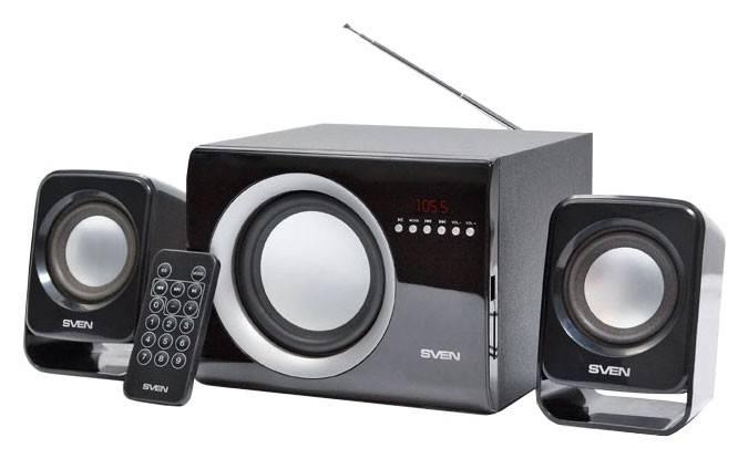 Колонки Sven MS-300 черный 2.1 - фото 1