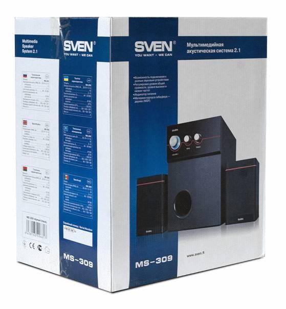 Колонки Sven MS-309 черный 2.1 - фото 5