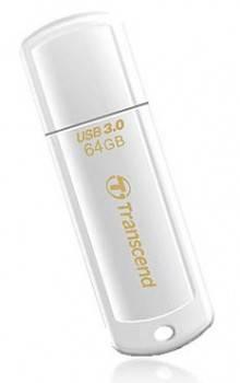Флеш диск 64Gb Transcend Jetflash 730 USB3.0 белый