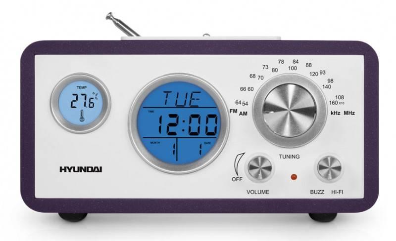 Радиоприемник Hyundai H-1611 фиолетовый - фото 1