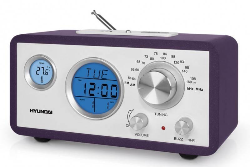 Радиоприемник Hyundai H-1611 фиолетовый - фото 2