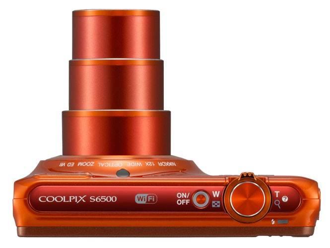 Фотоаппарат Nikon CoolPix S6500 оранжевый - фото 4