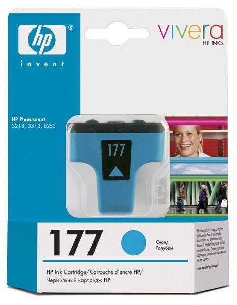 Картридж струйный HP 177 C8771HE голубой - фото 1