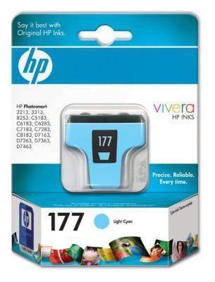 Картридж струйный HP 177 C8774HE светло-голубой - фото 1