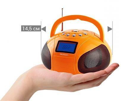 Магнитола Rolsen RBM411OR оранжевый - фото 3