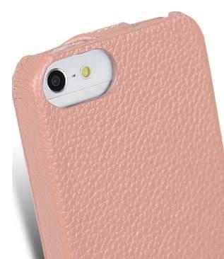 Чехол Melkco для iPhone 5/5S Jacka Type LC розовый (APIPO5LCJT1PKLC) - фото 7