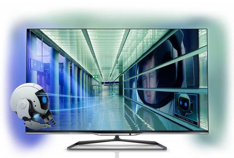 """Телевизор LED 42"""" Philips 42PFL7008S/60 черный - фото 1"""