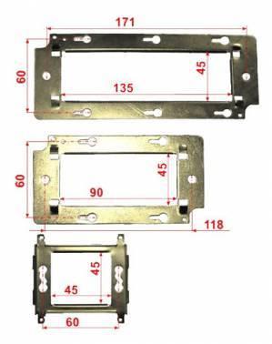 Суппорт LANMASTER (LAN-MF45x45)