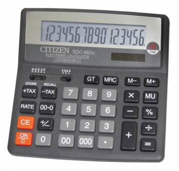 Калькулятор бухгалтерский Citizen SDC-660II черный