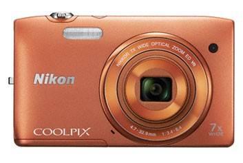 Фотоаппарат Nikon CoolPix S3500 оранжевый - фото 1