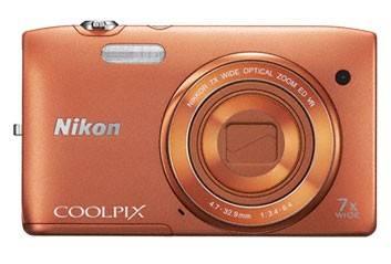 Фотоаппарат Nikon CoolPix S3500 оранжевый - фото 2