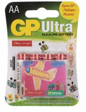 Батарея AA GP Ultra Alkaline 15AUGL LR6 (4шт)