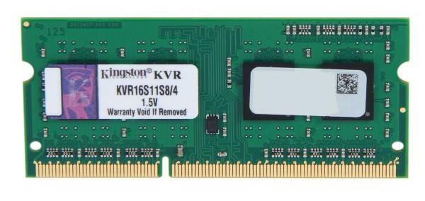 Модуль памяти SO-DIMM DDR3 4Gb Kingston KVR16S11S8/4 - фото 1