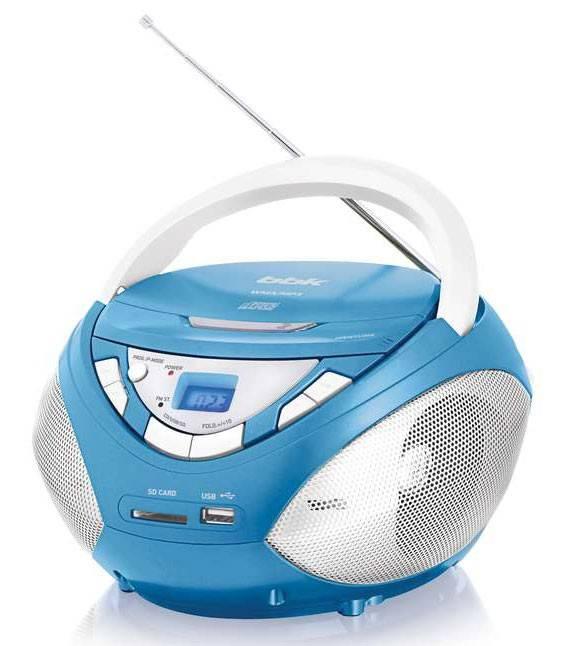 Магнитола BBK BX108U голубой/серебристый - фото 1