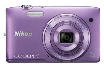 Фотоаппарат Nikon CoolPix S3500 фиолетовый - фото 1