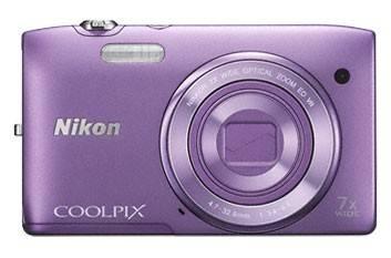 Фотоаппарат Nikon CoolPix S3500 фиолетовый - фото 2