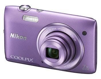 Фотоаппарат Nikon CoolPix S3500 фиолетовый - фото 3
