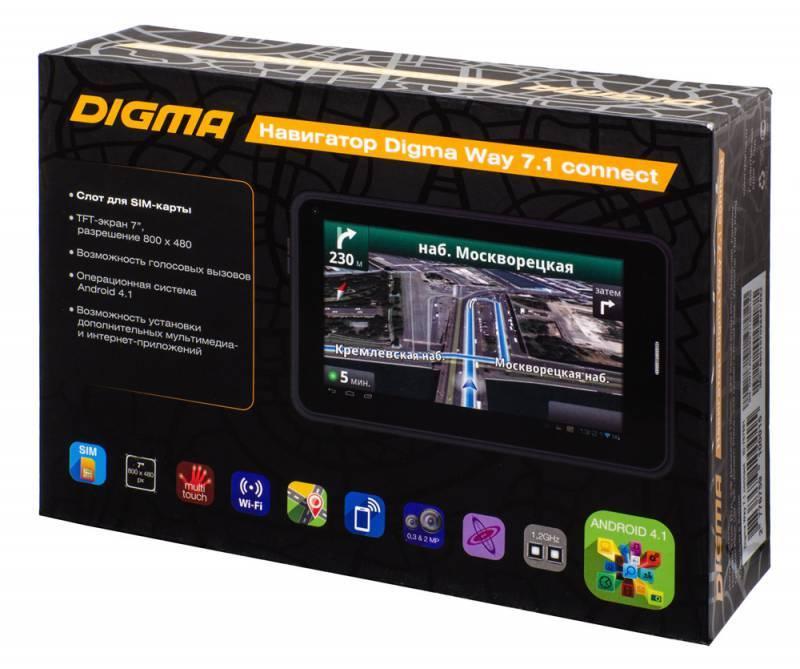"""GPS-навигатор Digma Way 7.1 connect 7"""" черный - фото 29"""