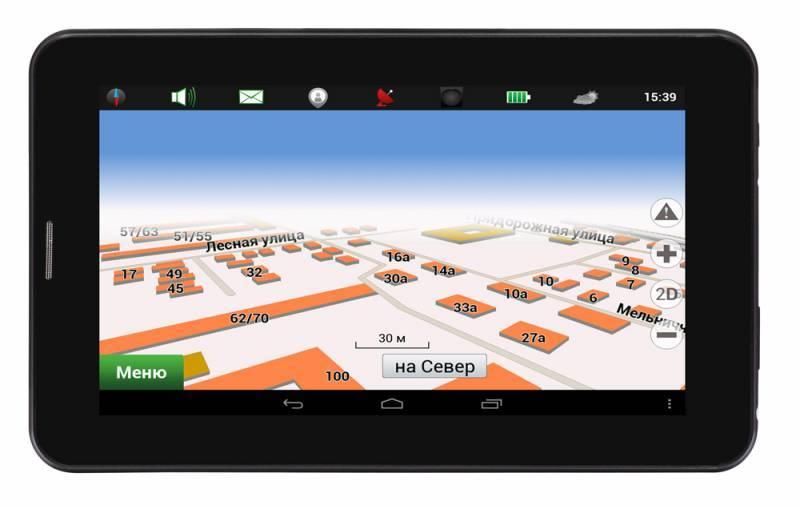 """GPS-навигатор Digma Way 7.1 connect 7"""" черный - фото 1"""