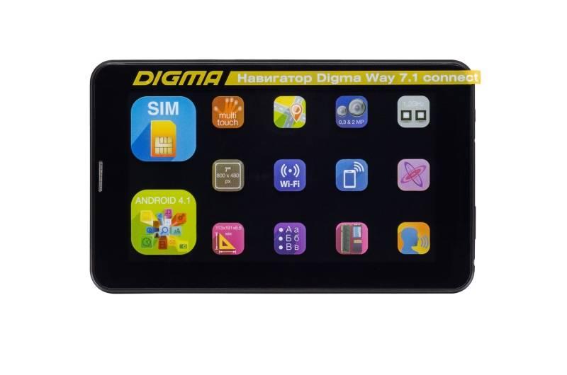 """GPS-навигатор Digma Way 7.1 connect 7"""" черный - фото 13"""
