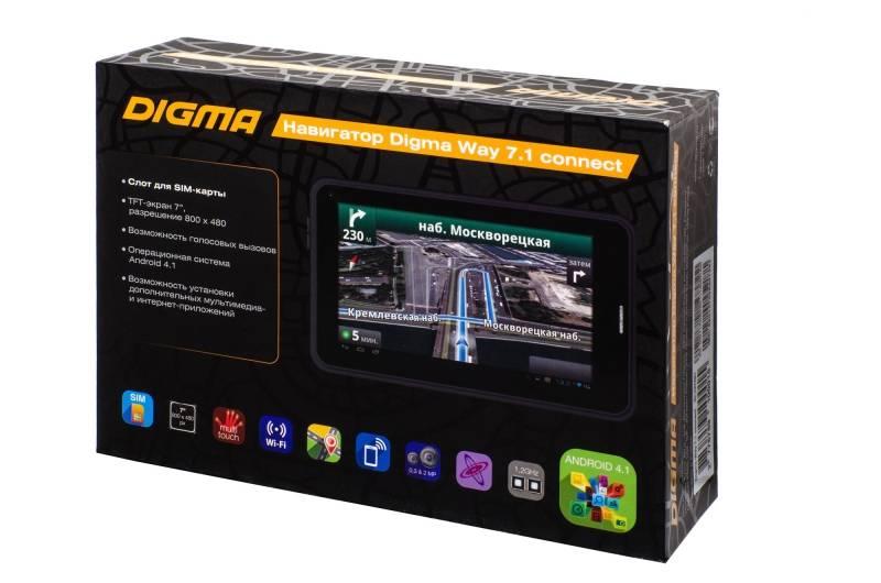 """GPS-навигатор Digma Way 7.1 connect 7"""" черный - фото 27"""