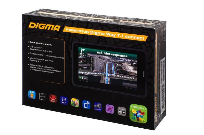 """GPS-навигатор Digma Way 7.1 connect 7"""" черный - фото 28"""