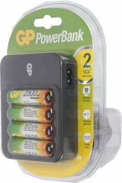 Аккумулятор + зарядное устройство AA GP PowerBank PB550GS250, в комплекте 4шт. (GP PB550GS250-2CR4)