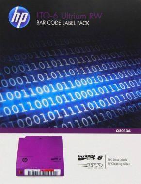 Наклейка HPE LTO-6 Ultrium RW Bar Code Pack (Q2013A)