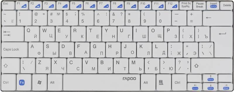 Клавиатура Rapoo E9050 белый - фото 1